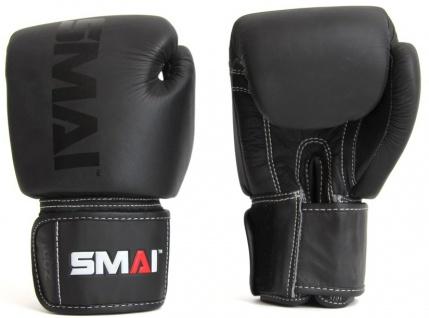 SMAI Elite Boxhandschuhe Leder schwarz
