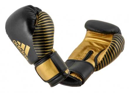 adidas Boxhandschuh Competition Leder schwarz gold