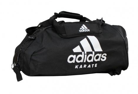 adidas Sporttasche - Sportrucksack schwarz/weiss Karate