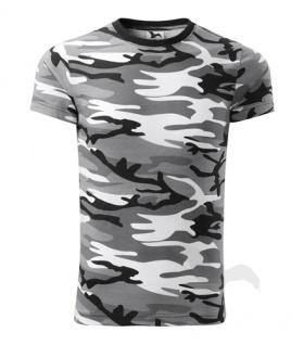Camouflage T-Shirt für Kinder grau