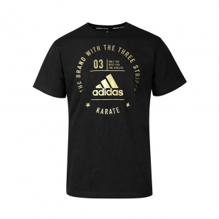 adidas Community T-Shirt Karate schwarz/gold