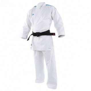 adidas Kumite Karateanzug adiLight K191SK mit blauen Schulterstreifen