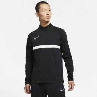 NIKE langarm Trainings T-shirt mit Zip Academy schwarz
