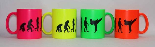 Tasse Evolution Karate / Taekwondo Neonfarbe