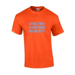 T-Shirt STRIKE FIRST orange-blau