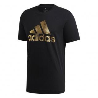adidas T-Shirt schwarz mit Golddruck