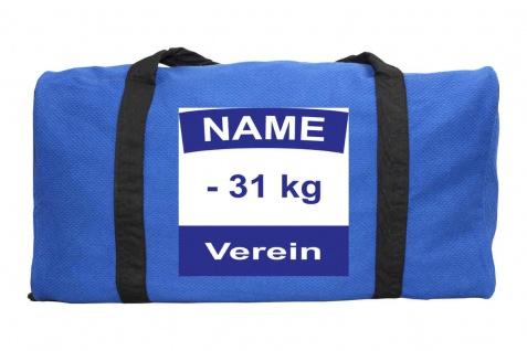 Judotasche blau aus Judoanzugstoff mit Judo Rückennummer