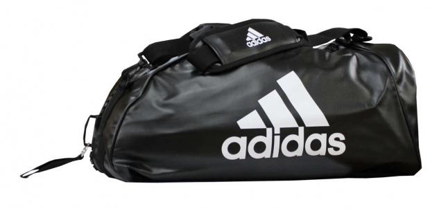 adidas Sporttasche - Sportrucksack schwarz/weiss Kunstleder