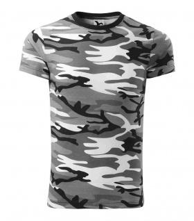 Camouflage T-shirt grau