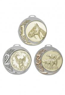 Medaille in gold, silber, bronze ca. 7 cm