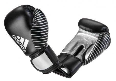 adidas Boxhandschuh Competition Leder schwarz silber
