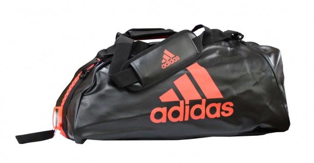 adidas Sporttasche - Sportrucksack schwarz/rot Kunstleder