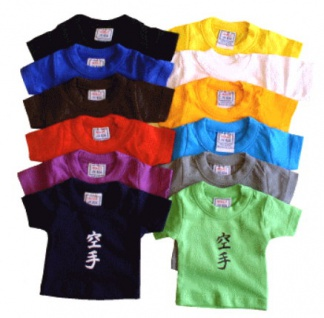 Mini T-Shirt bedruckt mit Karate