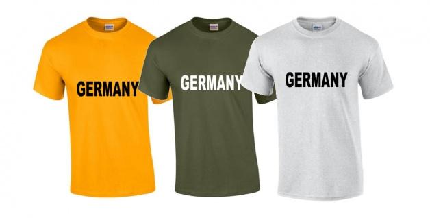 T-Shirt Germany verschiedene Farben