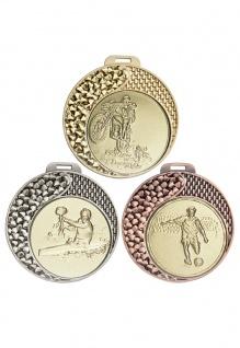 Medaille in gold, silber, bronze ca 7 cm