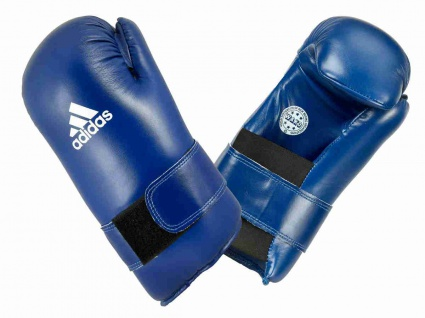 adidas Semi Contact Kickboxhandschuhe WAKO blau