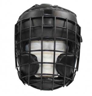 Kopfschutz mit Visier aus Stahlgitter