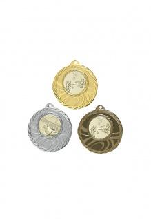 Medaille in gold, silber, bronze ca. 5 cm