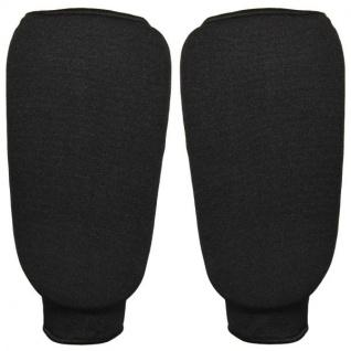 Schienbeinschutz aus Baumwolle schwarz