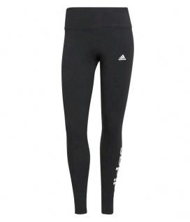 adidas Damen Leggins Linear schwarz mit weißen adidas Schriftzug