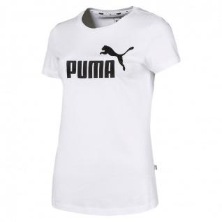 Puma ESS Logo Damen T-Shirt weiß