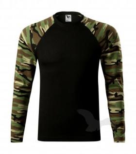 Camouflage T-shirt langarm