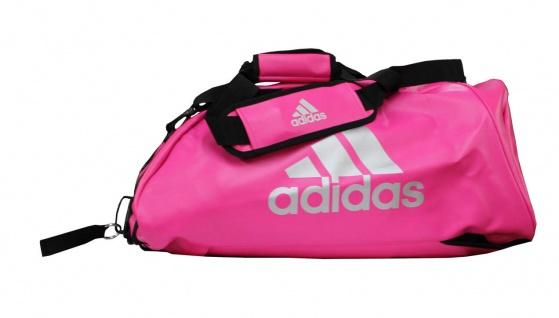 adidas Sporttasche - Sportrucksack pink/silber Kunstleder
