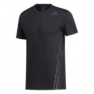 adidas Herren T-Shirt Aero 3S CW TEE schwarz