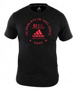 adidas Community T-Shirt Karate schwarz/rot