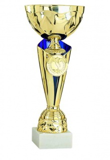 gold blauer Pokal