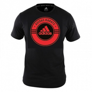 adidas Combat T-Shirt Karate schwarz/rot