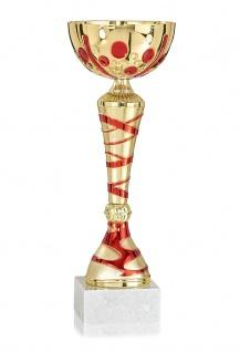 Pokal in gold mit roten Details