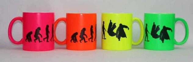 Tasse Evolution Aikido Neonfarbe