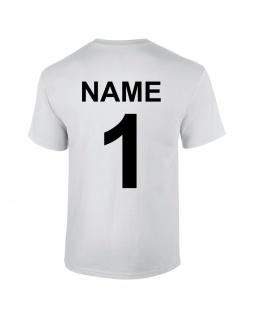 T-Shirt Baumwolle mit Rückennummer und Name