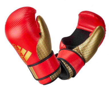 adidas Pro Point Fighter 300 Kickboxhandschuhe rot gold
