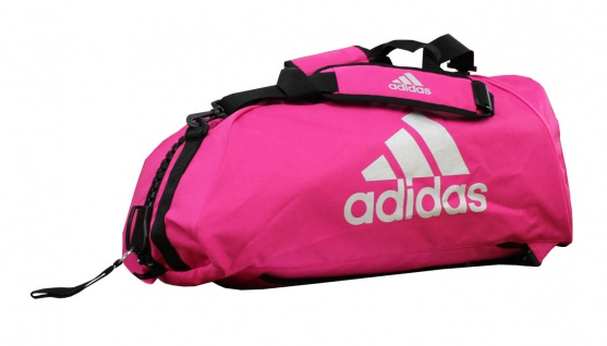 adidas Sporttasche - Sportrucksack pink/silber - Vorschau 1