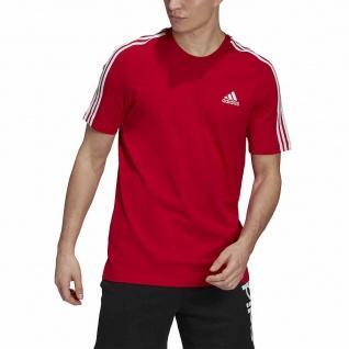 adidas T-Shirt 3S SCARLE, rot   weiß