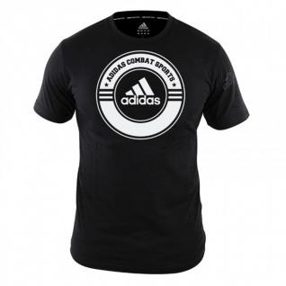 adidas T-Shirt Combat Sports schwarz/weiß