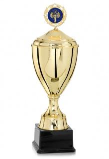 Pokal gold mit Deckel