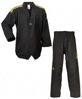 adidas Taekwondoanzug adi champion schwarz, goldene Schulterstreifen