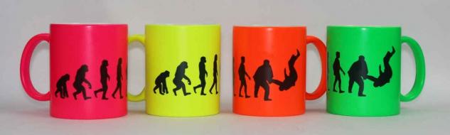 Tasse Evolution Judo Neonfarbe