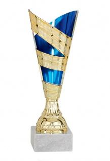 Pokal gold/blau aus Kunststoff