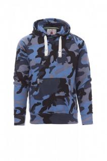 Kapuzensweater Hoody tarnfarbe blau