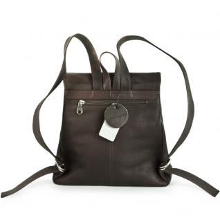 Harolds - Eleganter Lederrucksack Größe M / Rucksack-Handtasche aus Leder, Braun, Modell 445125 - Vorschau 5