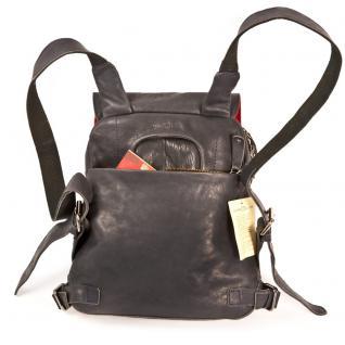 Harolds - Kleiner Lederrucksack Größe S / Rucksack-Handtasche aus Leder, Blau-Schwarz, Modell 223702 - Vorschau 4