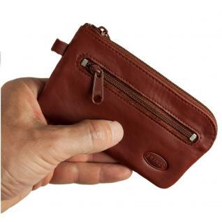 Branco - Großes Schlüsseletui / Schlüsselmäppchen aus Leder, Braun, Modell 018