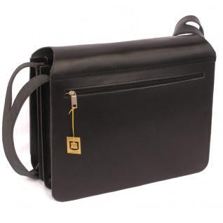 Jahn-Tasche - Große Aktentasche / Lehrertasche Größe XL aus Leder, Schwarz, Modell 675 - Vorschau 3