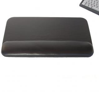 Hamosons - PC Tastaturauflage / Handballenauflage, aus Echt-Leder, Schwarz, Modell 26302 - Vorschau 2