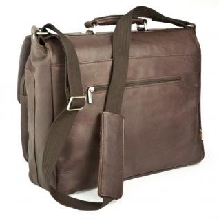 Jahn-Tasche - Elegante Aktentasche Größe L / Laptoptasche bis 15, 6 Zoll, aus Nappa-Leder, Braun, Modell 750 - Vorschau 5