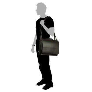 Jahn-Tasche - Große Aktentasche / Lehrertasche Größe XL aus Leder, Schwarz, Modell 676 - Vorschau 4